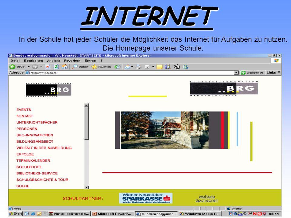 Die Homepage unserer Schule: