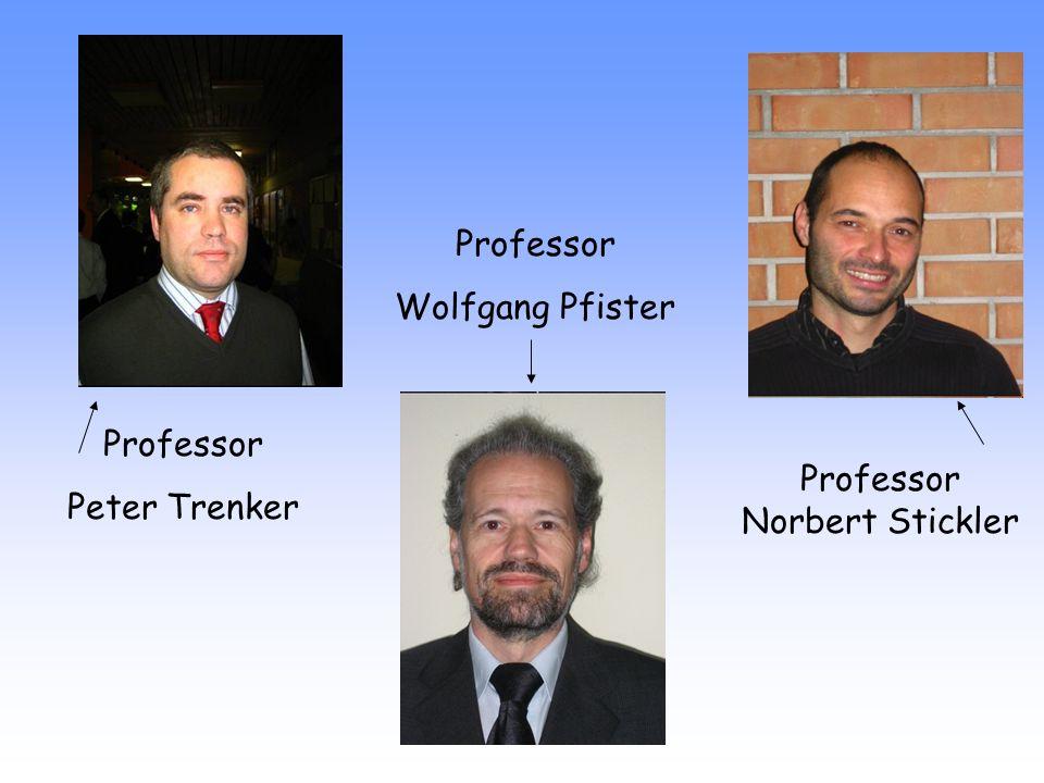 Professor Wolfgang Pfister Professor Peter Trenker Professor Norbert Stickler
