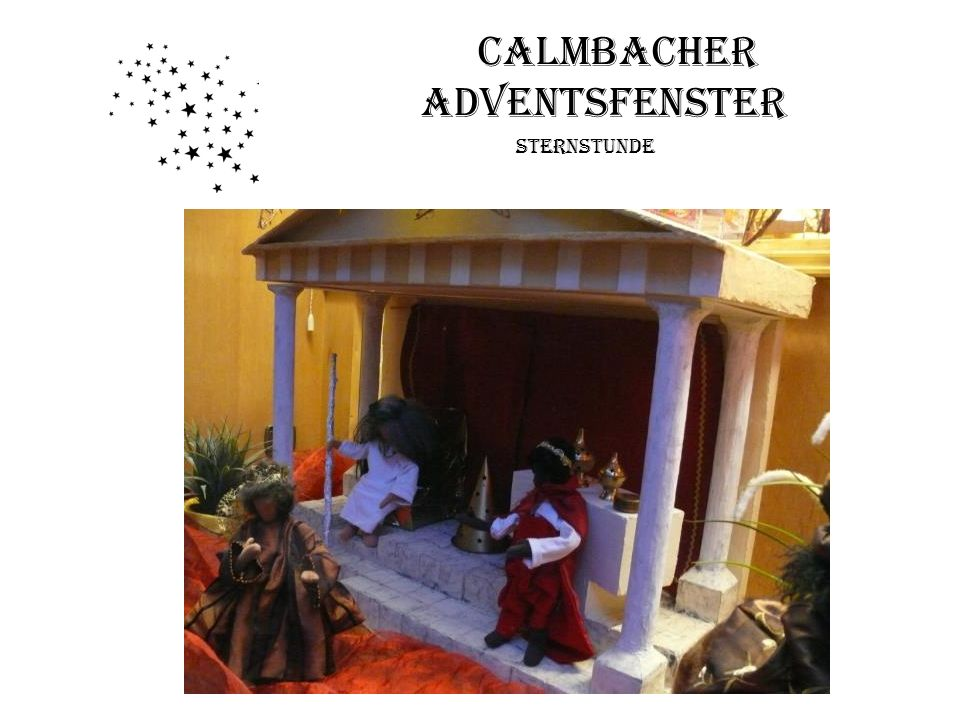 Calmbacher Adventsfenster
