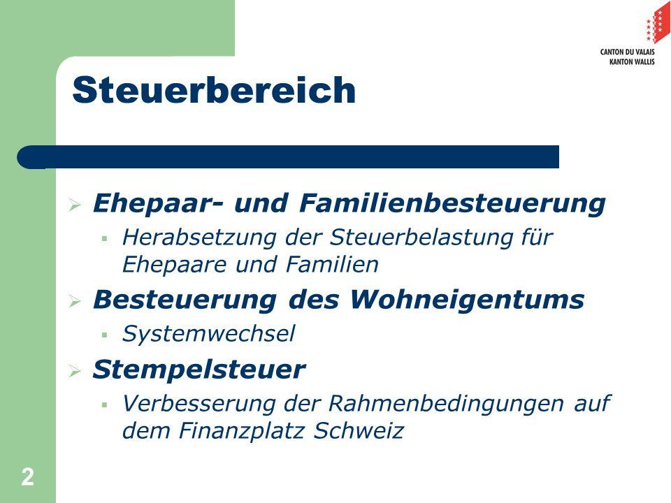 Steuerbereich Ehepaar- und Familienbesteuerung