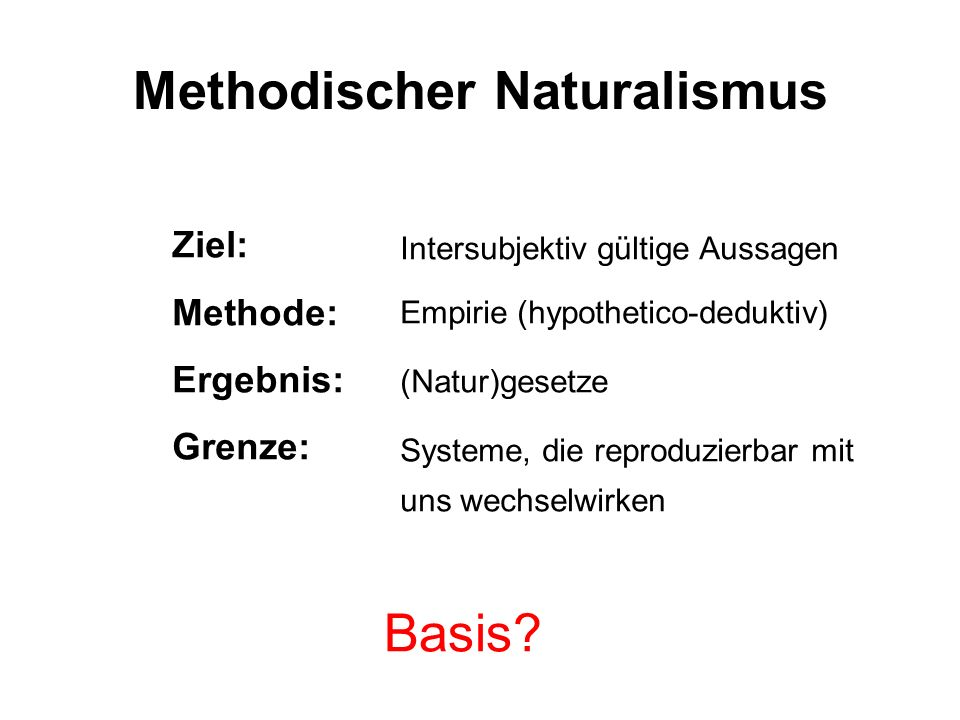 Methodischer Naturalismus