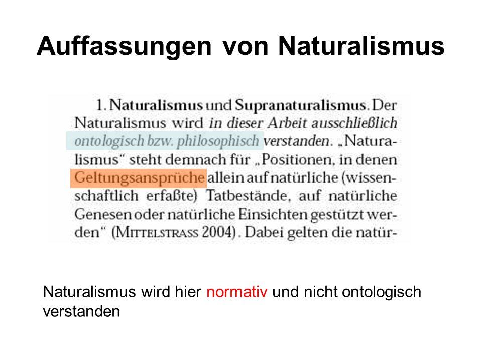 Auffassungen von Naturalismus