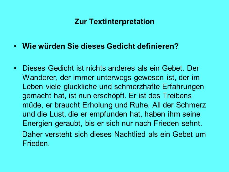 Zur Textinterpretation