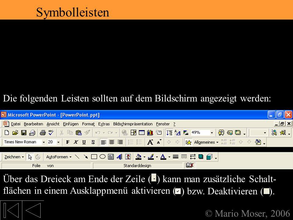 2. Der erste Eindruck Symbolleisten Symbolleisten