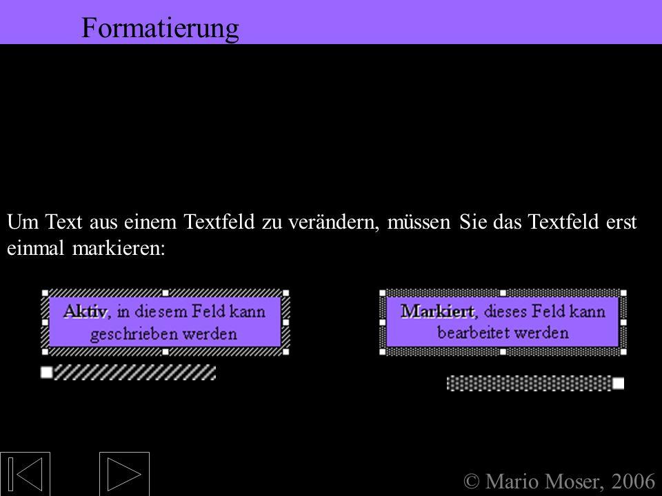 5. Bearbeiten des Textes Formatierung Formatierung Formatierung