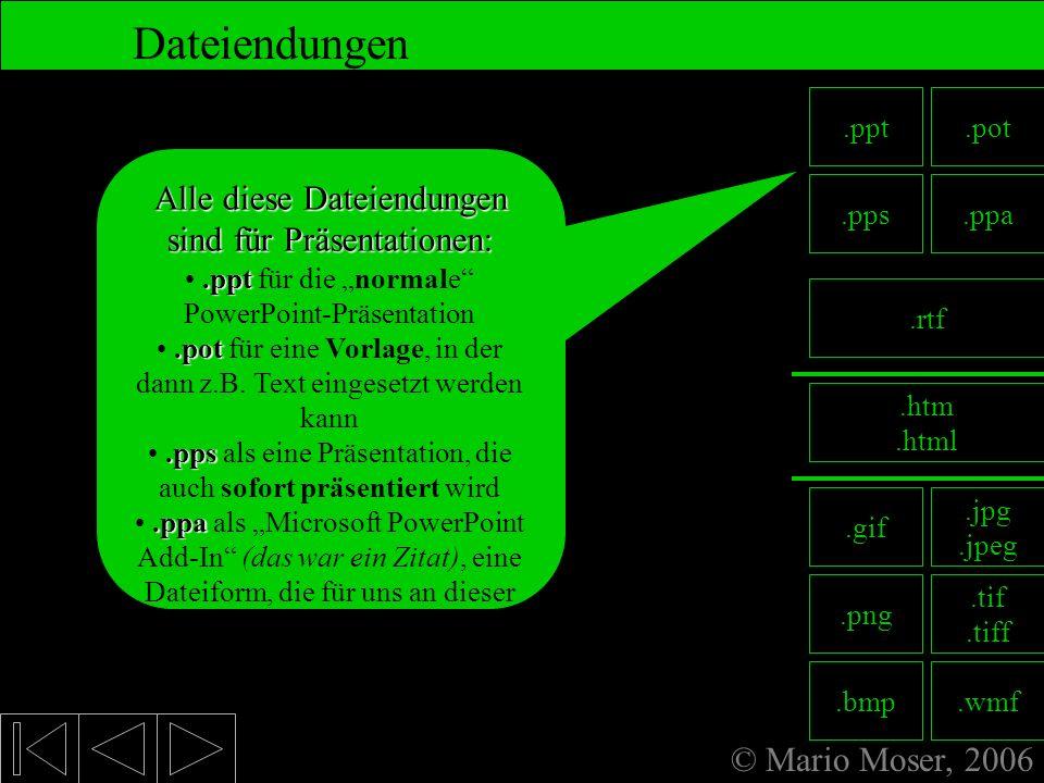 8. Fertige Präsentation Dateiendungen