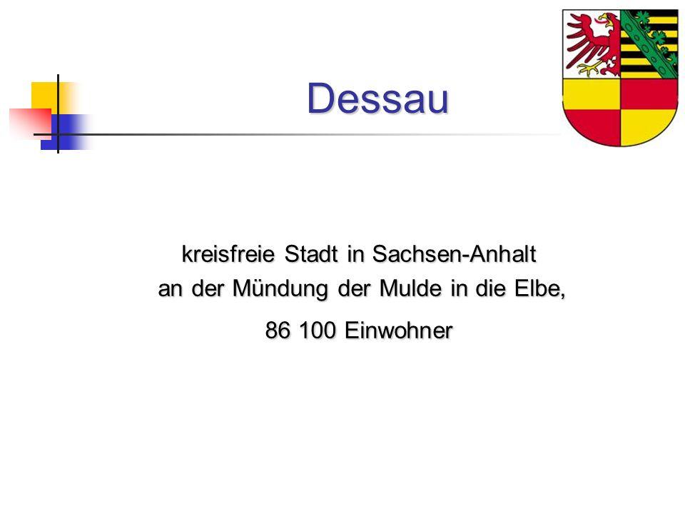 Dessau kreisfreie Stadt in Sachsen-Anhalt