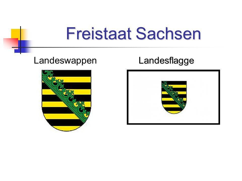 Freistaat Sachsen Landeswappen Landesflagge
