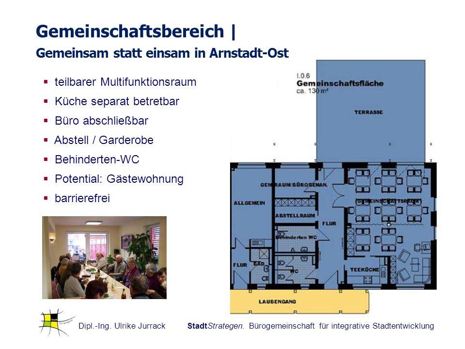 Gemeinschaftsbereich | Gemeinsam statt einsam in Arnstadt-Ost