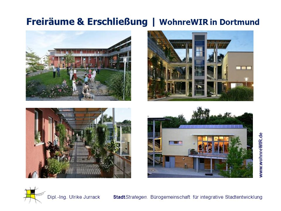 Freiräume & Erschließung | WohnreWIR in Dortmund