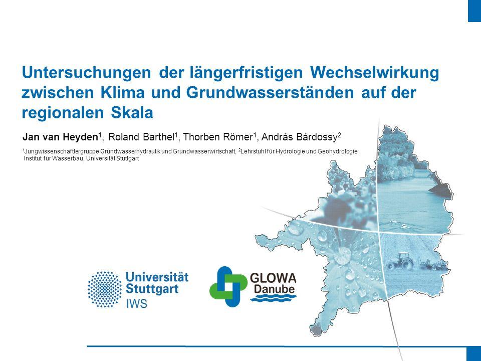 Untersuchungen der längerfristigen Wechselwirkung zwischen Klima und Grundwasserständen auf der regionalen Skala