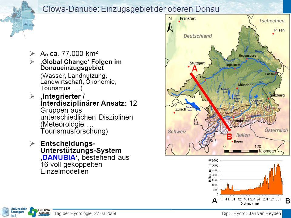 Glowa-Danube: Einzugsgebiet der oberen Donau
