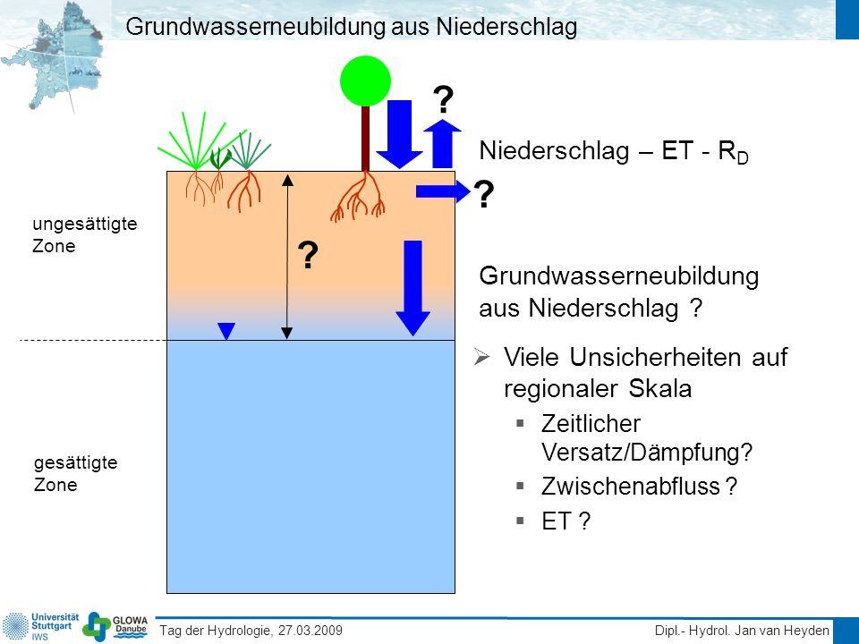 Grundwasserneubildung aus Niederschlag