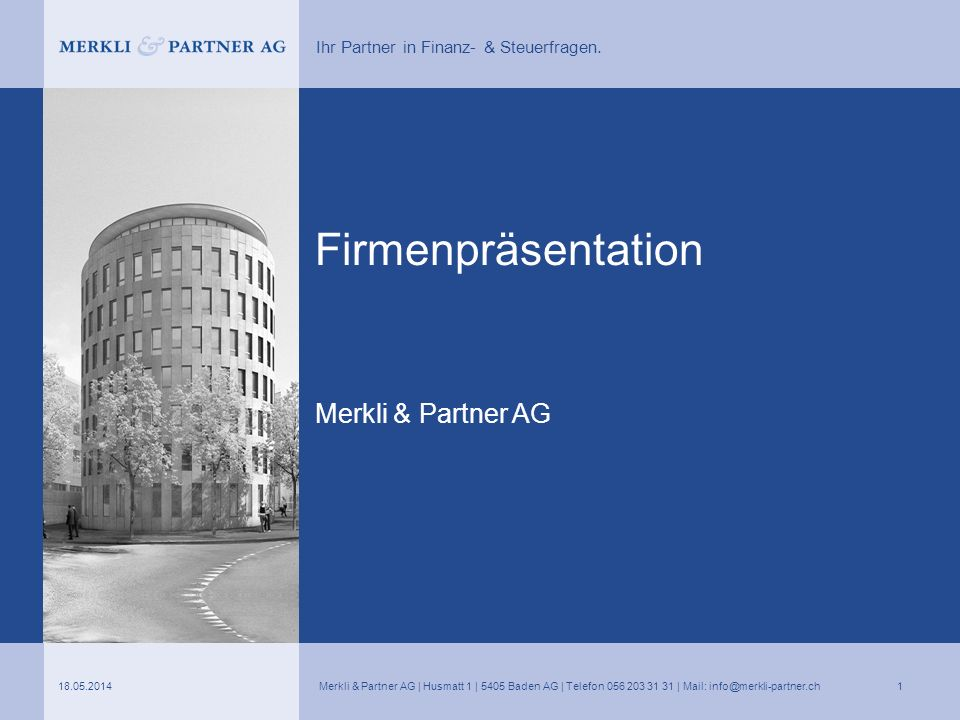 Firmenpräsentation Merkli & Partner AG 31.03.2017
