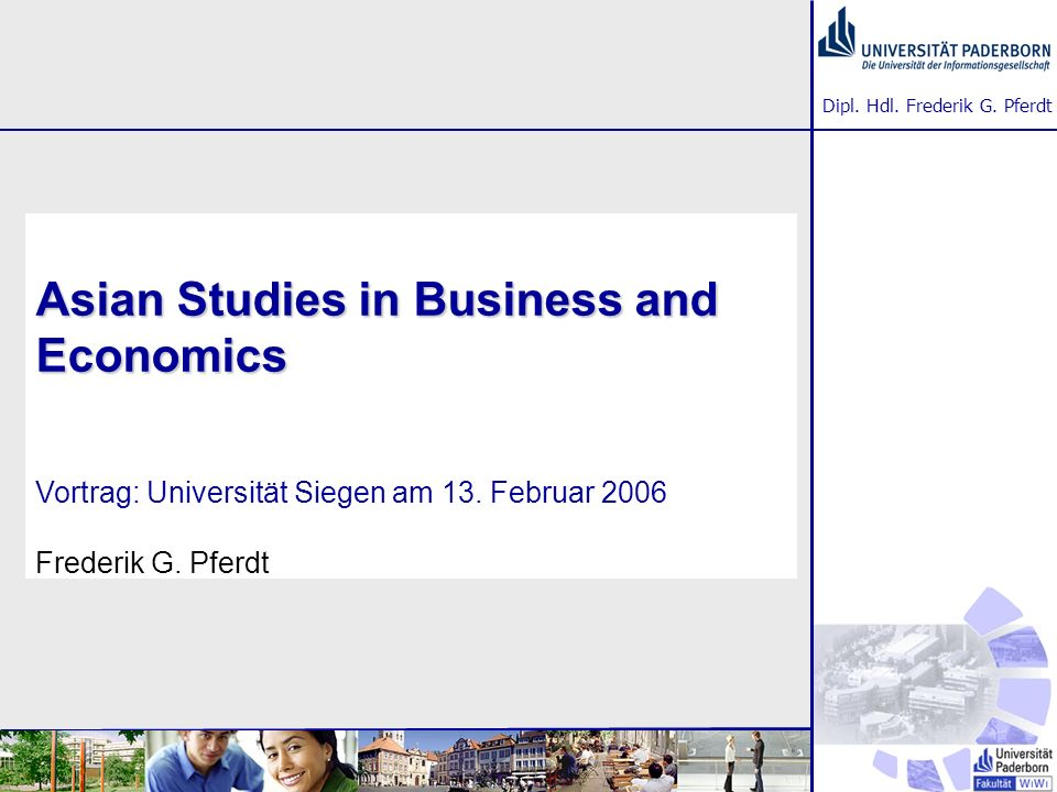 Asian Studies in Business and Economics Vortrag: Universität Siegen am 13.