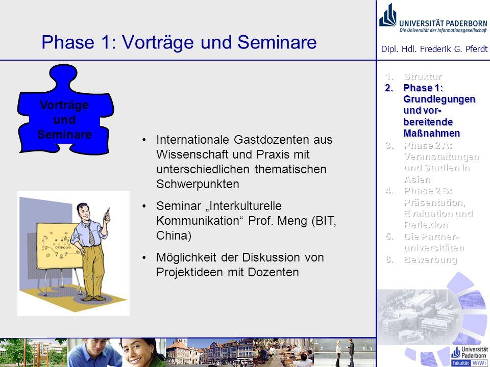 Phase 1: Vorträge und Seminare