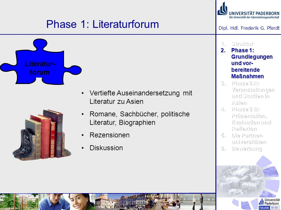 Phase 1: Literaturforum