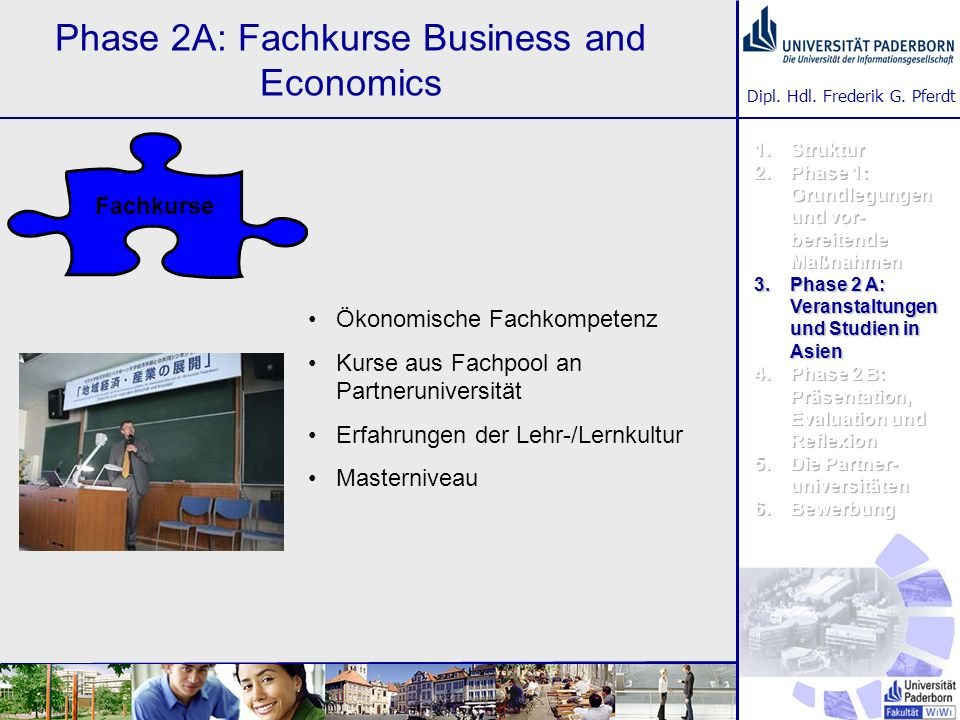 Phase 2A: Fachkurse Business and Economics