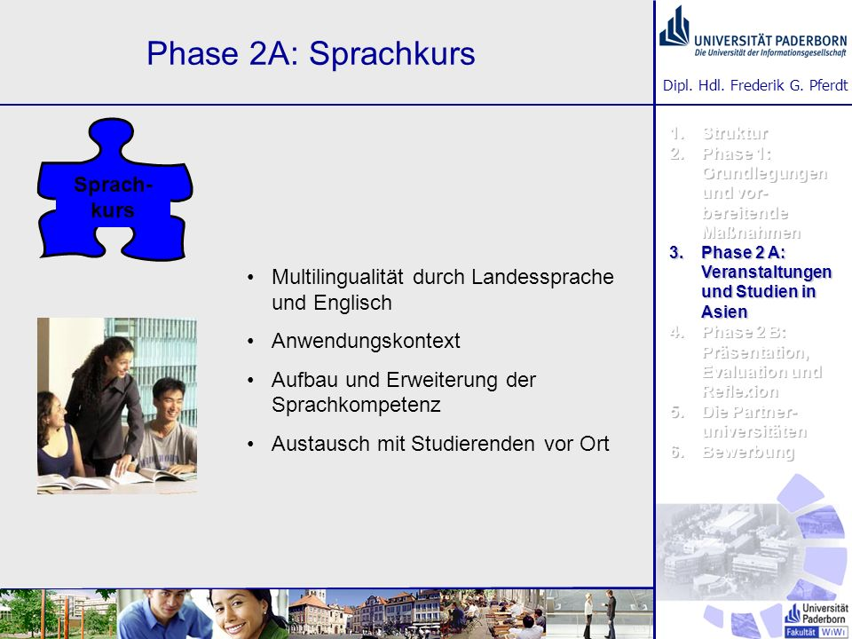 Phase 2A: Sprachkurs Sprach-kurs