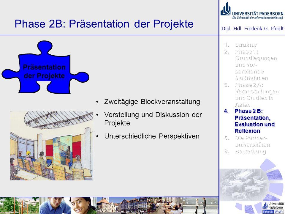 Phase 2B: Präsentation der Projekte
