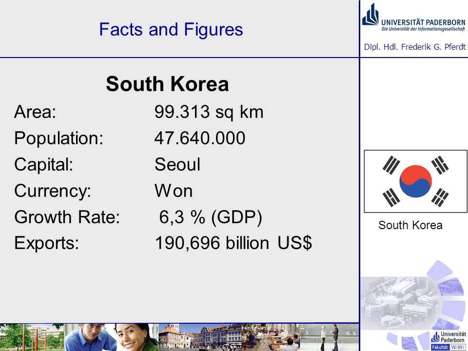 South Korea Facts and Figures Area: 99.313 sq km