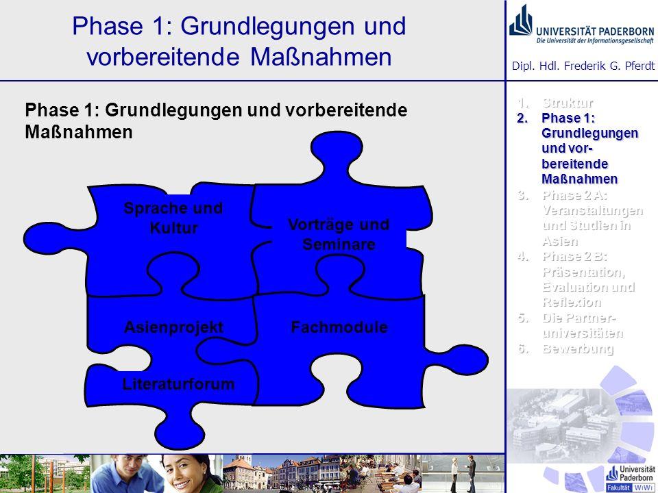 Phase 1: Grundlegungen und vorbereitende Maßnahmen