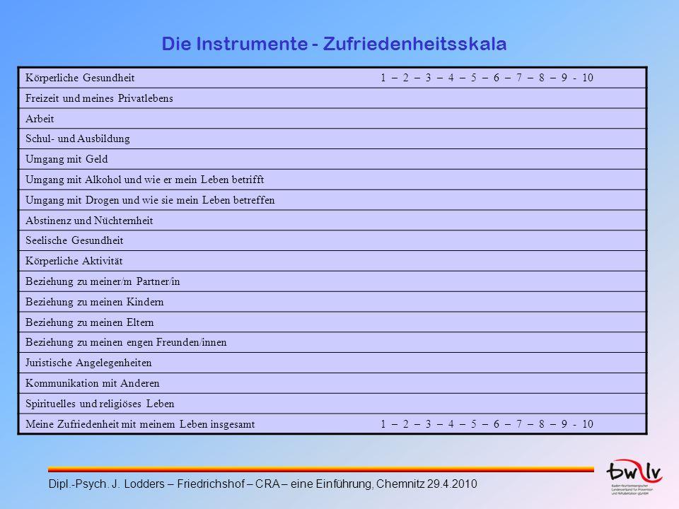 Die Instrumente - Zufriedenheitsskala