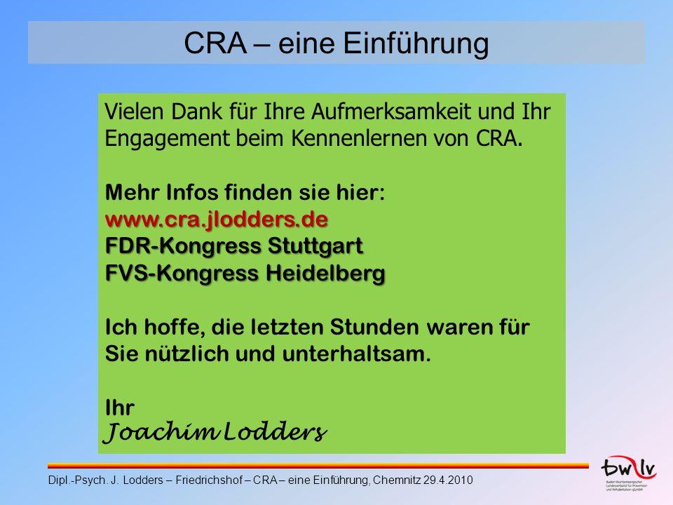 CRA – eine Einführung Vielen Dank für Ihre Aufmerksamkeit und Ihr Engagement beim Kennenlernen von CRA.