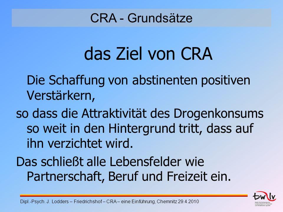 das Ziel von CRA CRA - Grundsätze