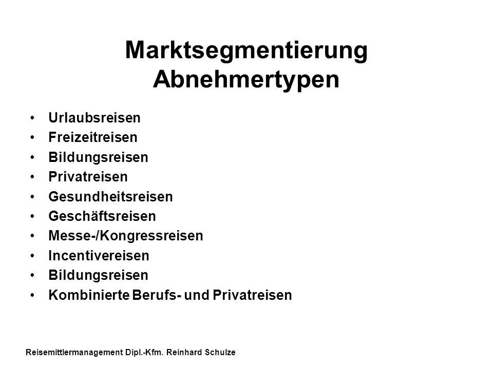 Marktsegmentierung Abnehmertypen