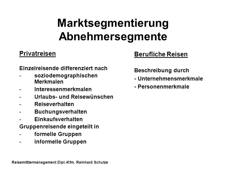 Marktsegmentierung Abnehmersegmente