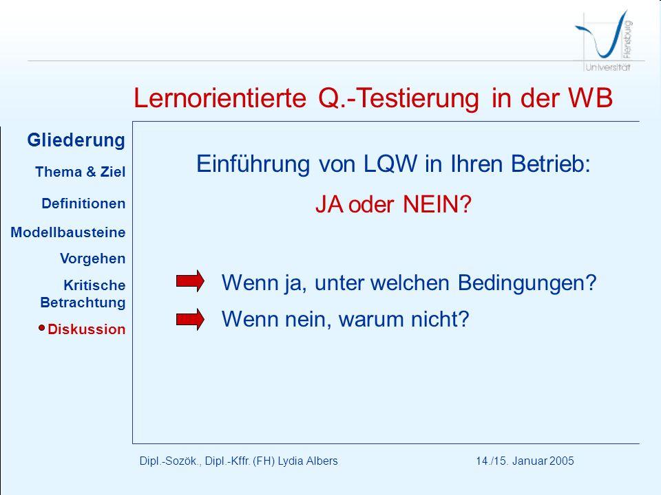 Einführung von LQW in Ihren Betrieb: