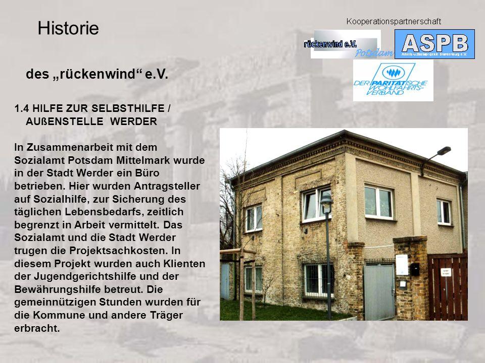"Historie des ""rückenwind e.V. 1.4 HILFE ZUR SELBSTHILFE /"