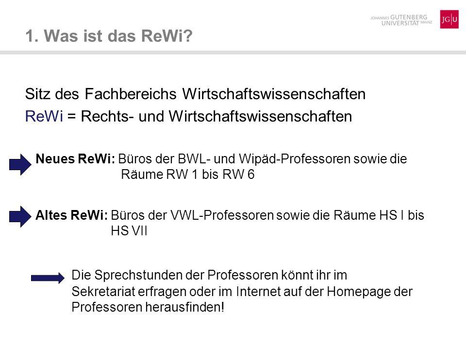 1. Was ist das ReWi Sitz des Fachbereichs Wirtschaftswissenschaften