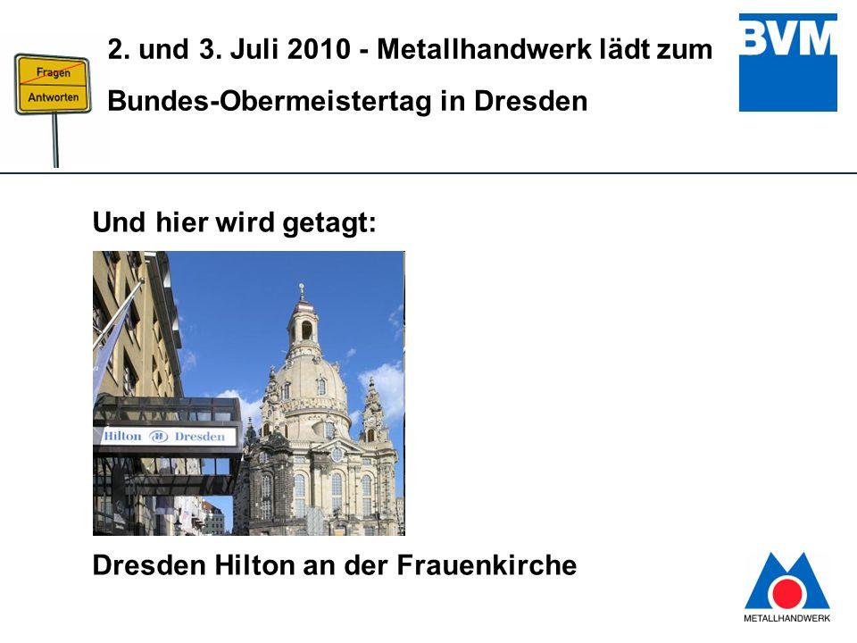 Und hier wird getagt: Dresden Hilton an der Frauenkirche