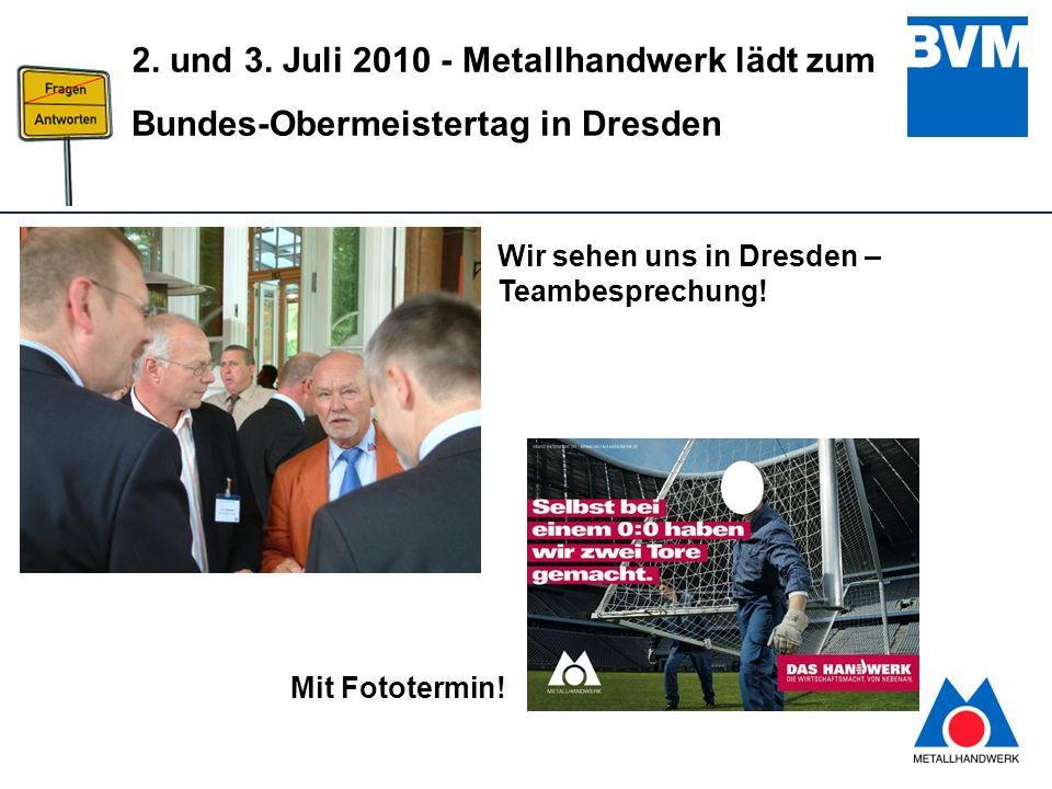 Wir sehen uns in Dresden – Teambesprechung!