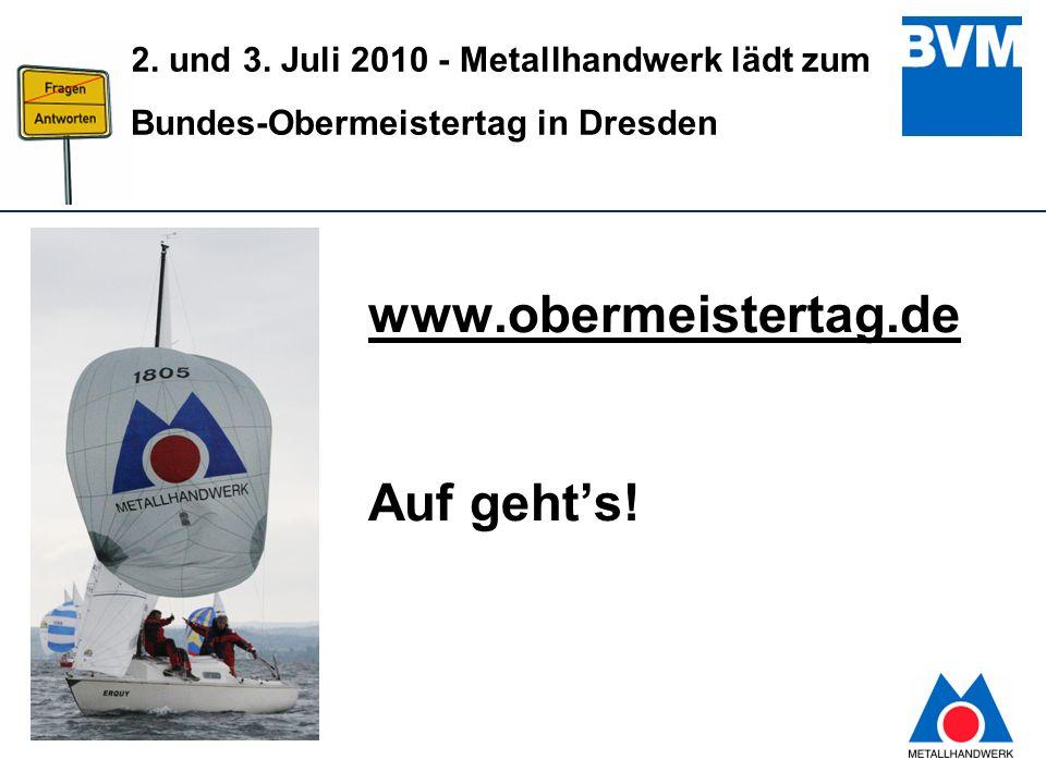www.obermeistertag.de Auf geht's!