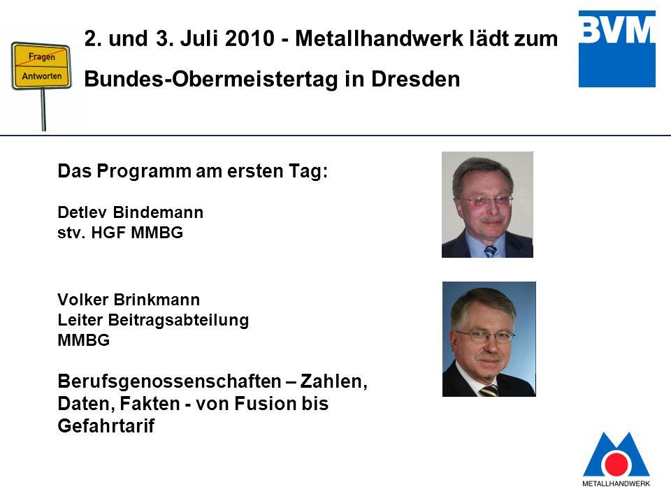 Das Programm am ersten Tag: Detlev Bindemann stv