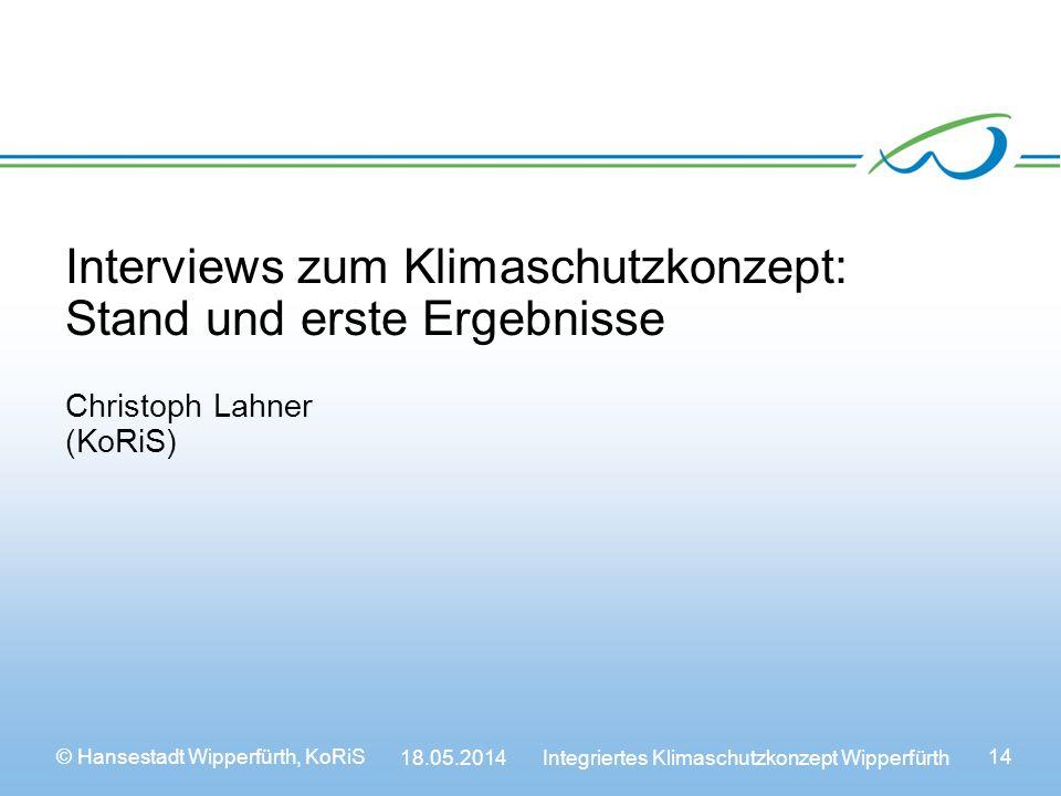 Interviews zum Klimaschutzkonzept: Stand und erste Ergebnisse