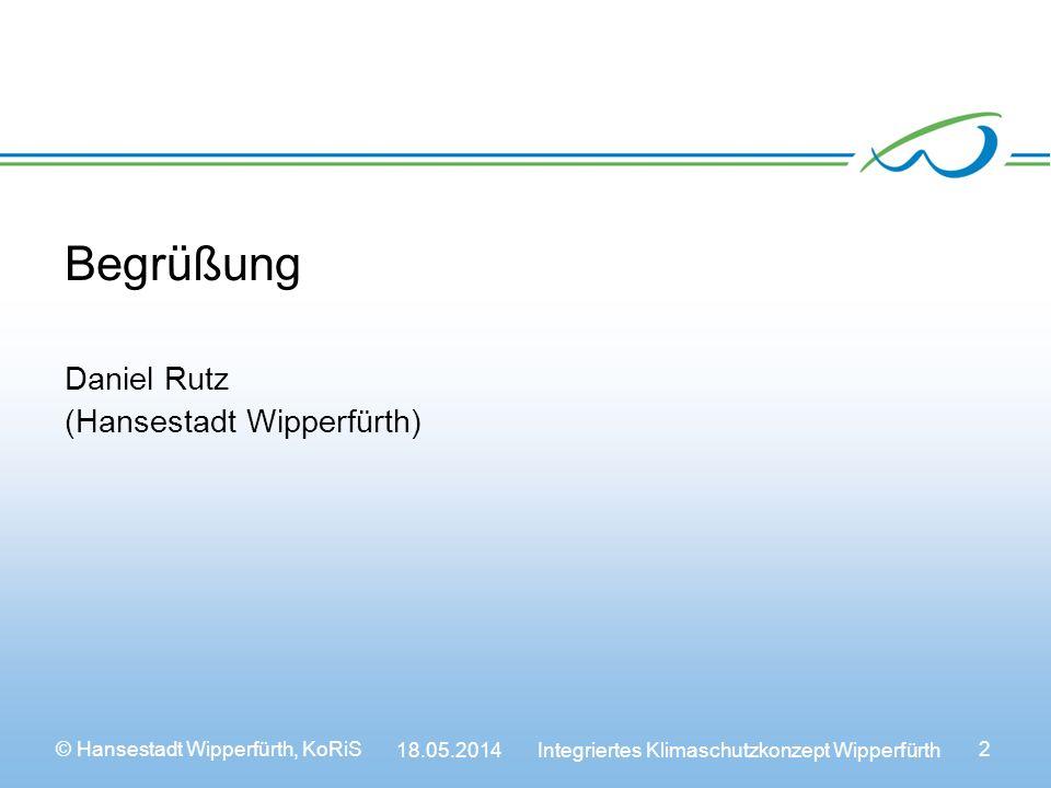 Begrüßung Daniel Rutz (Hansestadt Wipperfürth)