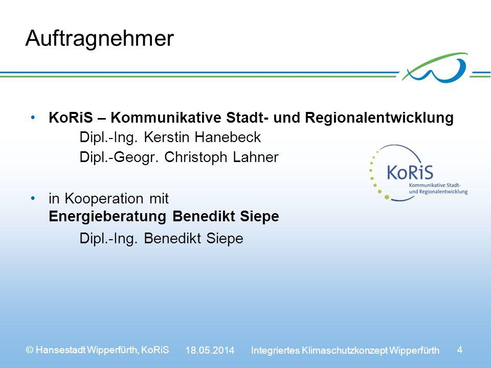 Auftragnehmer KoRiS – Kommunikative Stadt- und Regionalentwicklung