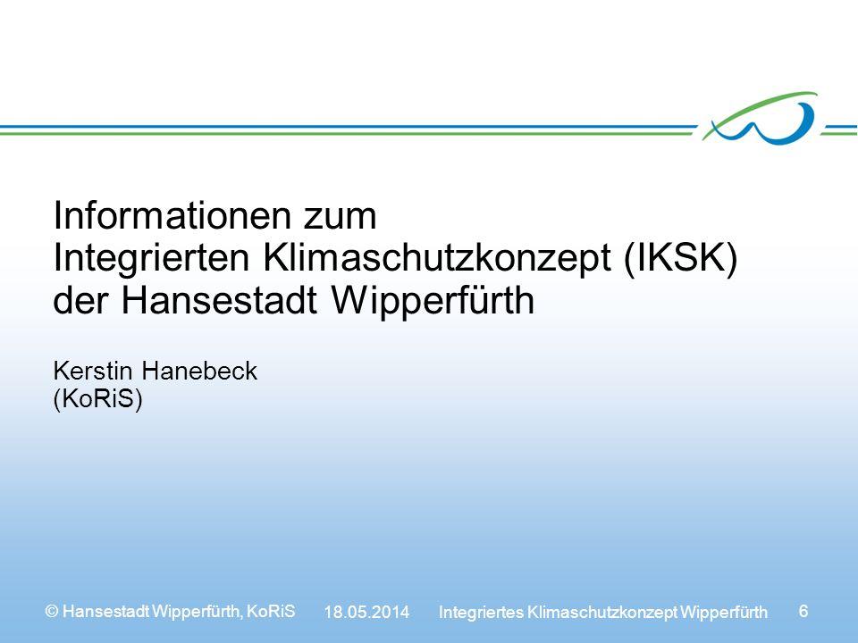 Informationen zum Integrierten Klimaschutzkonzept (IKSK) der Hansestadt Wipperfürth