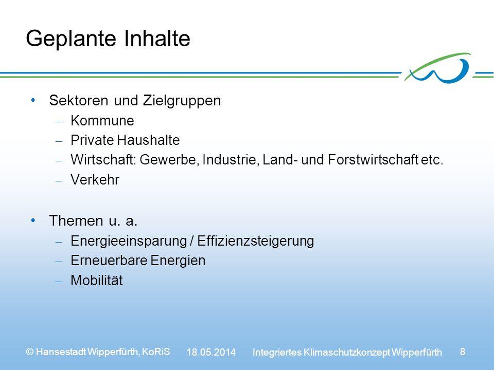 Geplante Inhalte Sektoren und Zielgruppen Themen u. a. Kommune