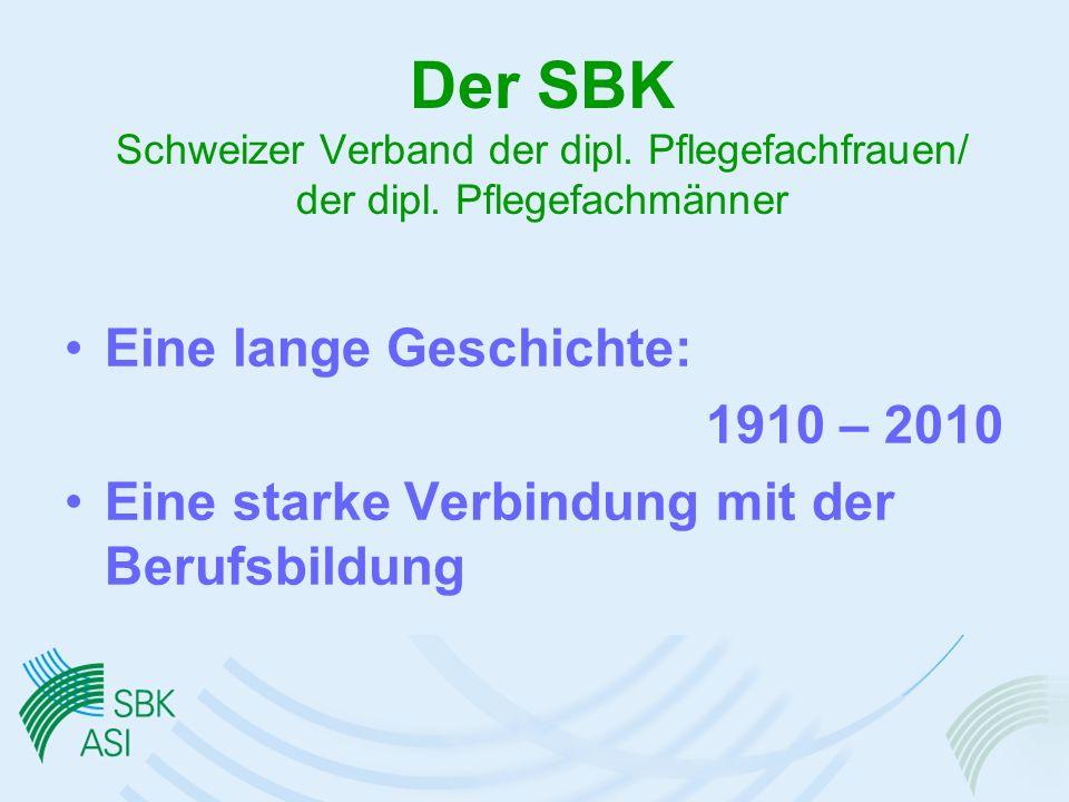 Der SBK Schweizer Verband der dipl. Pflegefachfrauen/ der dipl