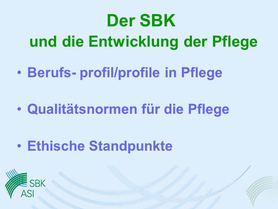 Der SBK und die Entwicklung der Pflege