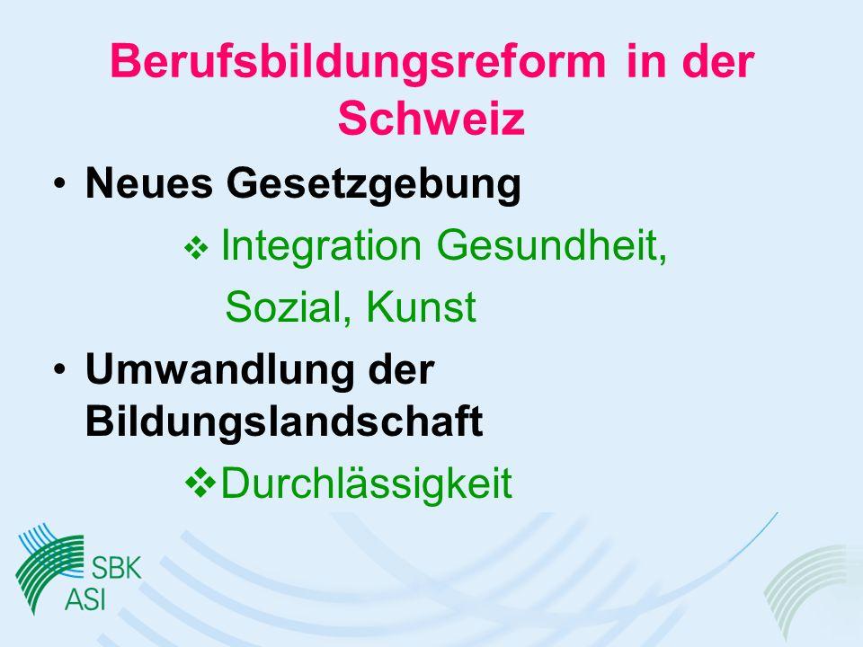 Berufsbildungsreform in der Schweiz