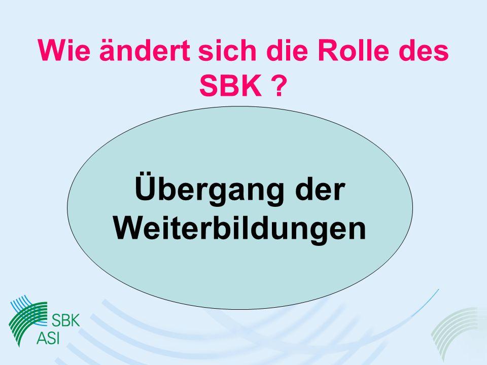 Wie ändert sich die Rolle des SBK