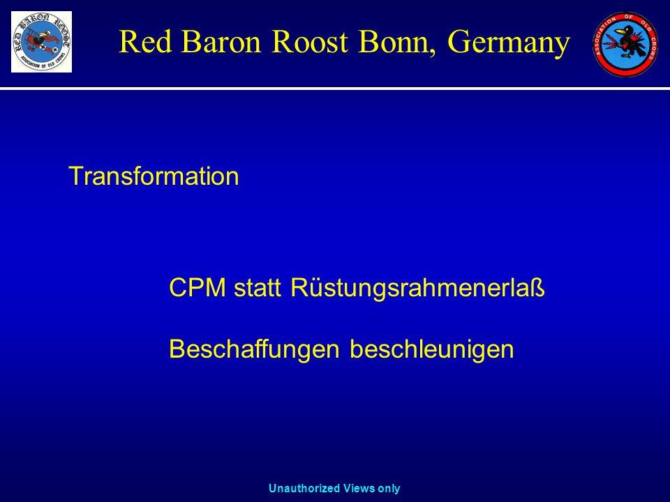 Transformation CPM statt Rüstungsrahmenerlaß Beschaffungen beschleunigen
