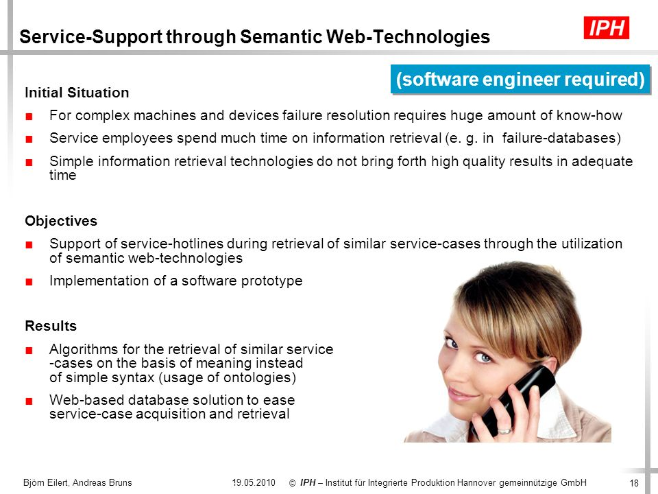 Service-Support through Semantic Web-Technologies