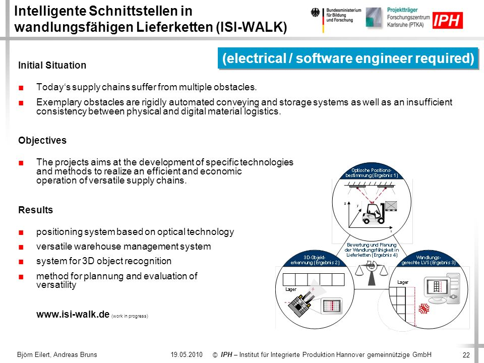 (electrical / software engineer required)